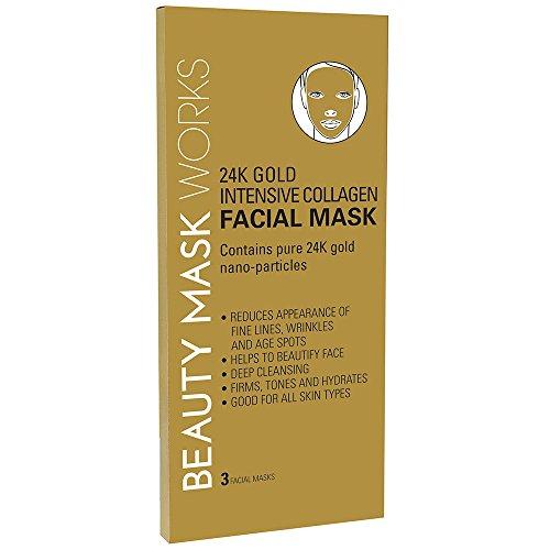 24K Gold Intensive Collagen Facial Mask 3-ct.
