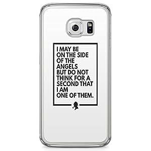 Samsung Galaxy S6 Edge Transparent Edge Case Sherlock No Angel