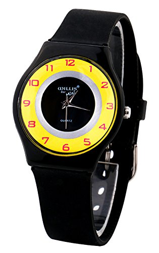 Daystyle Girls' Boys' Quartz Watches Teenager Kids Silicone Strap Young Student Wrist Watch Black by Daystyle