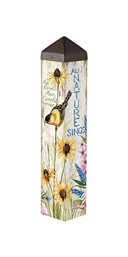 Studio M PL1088 Sunflower Sings Garden Art Pole