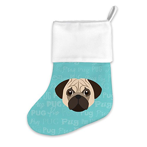 Mystic Sloth Adorable Dog Breed Specific Christmas Holiday Stocking (Pug)