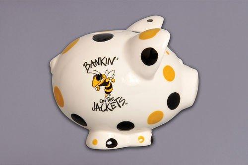 Ceramic Collegiate Piggy Bank (Georgia Tech Yellow Jackets) ()
