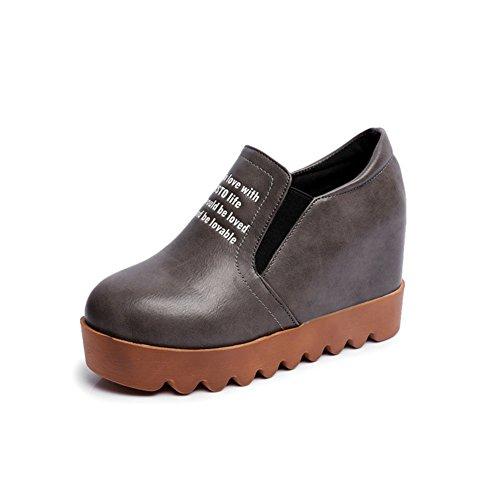 Fu Lok coreanos los mujeres casual señora otoño primavera de en los y zapatos estudiantes zapatos final de calzado A las de Espesor mayores vqX7YY