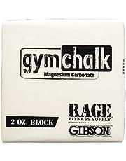 Gibson Athletic Premium Block Gym Chalk, 1Lb, Consists of (8) 2 oz Blocks, Magnesium Carbonate, Gymnastics, Weightlifting, Rock Climbing White