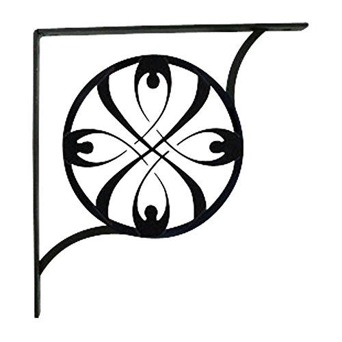Wrought Iron Ribbon Shelf Brackets 9 1/4 In. H x 9 1/4 In. - Shelf Ribbon Brackets