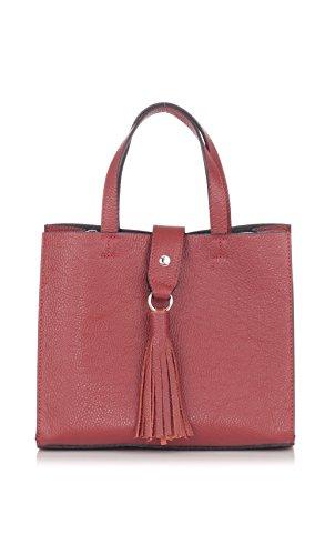 Laura Moretti Handbag CHLOE Burgundy Women Automn/Winter Collection - Chloe Red Leather Handbag