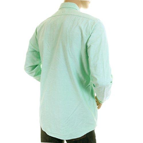 Scotch & Soda Herren Pastell Grün 12010020006Faded Oxford Shirt scot0394
