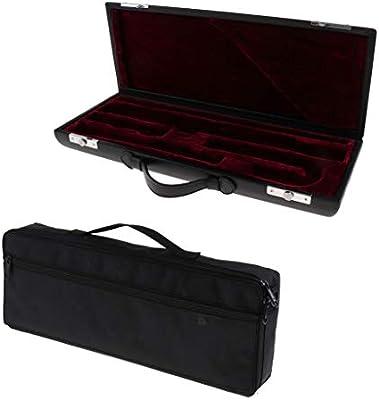 Sharplace Estuche Acolchado Asa Madera Flauta de Negra Bolso de Almacenamiento Gig Bag: Amazon.es: Juguetes y juegos