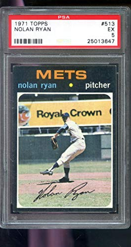 - 1971 Topps #513 Nolan Ryan New York Mets PSA 5 Graded Baseball Card