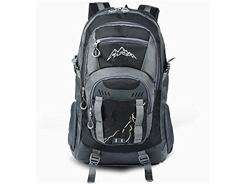 Junsonスポーツ多機能アウトドア旅行バックパック大容量ハイキング登山バッグ(ブラック) forストレージ   B07FNG7Z9Y