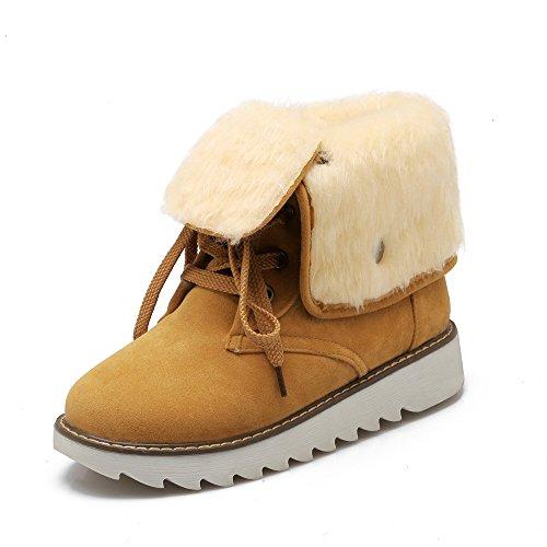 Spesso amp;x Heel Yellow nbsp;donna Qin Boots Fondo Tempo Libero Chunky Snow nx01X1dO
