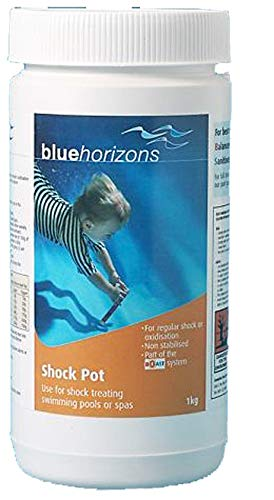 Blue Horizons Chlorine Shock Pot 1kg Hot Tub Spa Swimming Pool Tubs CPC