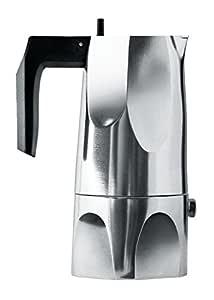 Alessi Ossidiana - Cafetera (Aluminio, asa de Resina termoplástica ...