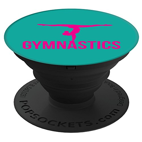 Culture of Pop Gymnastics Gymnast Handstand Girls Hot Pink Splits Teal PopSockets Stand for Smartphones and (Split Pedestal)