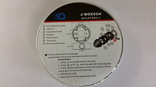 【正規品質保証】 4のセットジャンクションボックスの固定レンズ3.6 B019VL8EL0 MMドームカメラハウジングベースマウントJBOX Comes Comes inホワイトまたはグレー/グレーPleaseメッセージ色の選択肢 B019VL8EL0, 下田市:5acabb39 --- a0267596.xsph.ru