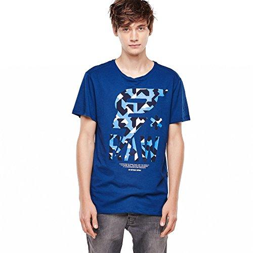 blu star corte maniche T Luis G shirt a stampata vnTSn6p