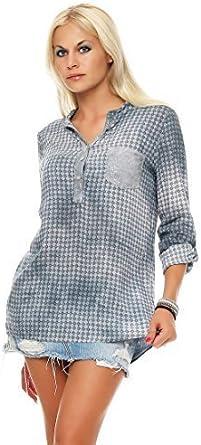 ZARMEXX blusa de viscosa de las mujeres lentejuelas de túnica ...