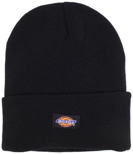 Cuffed Black Beanie Knit (Dickies Men's 14 Inch Cuffed Knit Beanie Hat, Black, One Size)