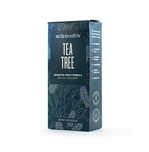 Schmidt's Natural Deodorant for Sensitive Skin - Tea Tree, 3.25 ounces. Stick for Women and Men by Schmidt's Deodorant (Image #1)'