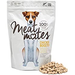 Meat Mates Natural Premium Dog Food Topper, 100% New Zealand Cage Free Chicken - The Perfect Grain Free, Healthy, Hypoallergenic Limited Ingredients Booster for All Dogs - Raw, Freeze Dried, 14 oz