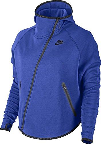 Nike Tech Fleece Butterfly Full Zip Womens Hoodie Large Blue