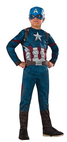 Rubie's Costume Captain America: Civil War Value Captain America Costume, (Captain America Costumes Large)