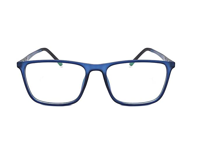 Hellomiko Gafas anti- azules ligeras antirradiación de alto grado de aluminio-magnesio espejo plano
