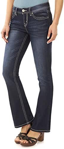 WallFlower Women's Juniors Basic Legendary Stretch Bootcut Denim Jeans