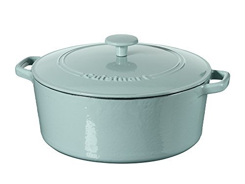 Cuisinart Casserole Cast Iron, Light Blue, 7 quart