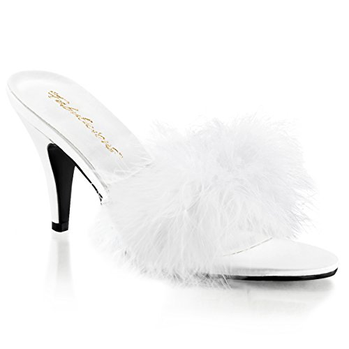 Pleaser Women's Amour-03 Pump,White,8 M ()