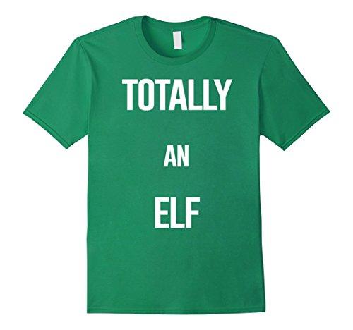 Homemade Halloween Elf Costumes (Mens Funny Elf Christmas Shirt, Totally An Elf Easy Costume Tee 3XL Kelly Green)