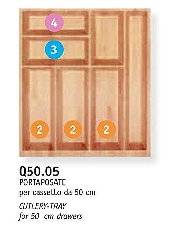 B.Arredo - Cubertero de madera maciza de haya evaporada - 50 cm: Amazon.es: Bricolaje y herramientas