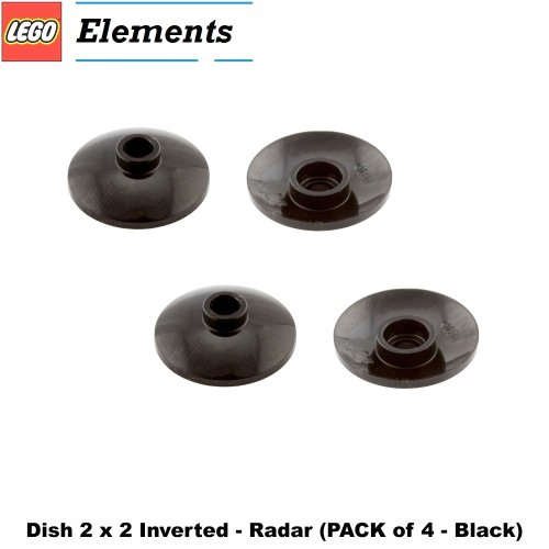 Lego Parts: Dish 2 x 2 Inverted - Radar (PACK of 4 - Black)