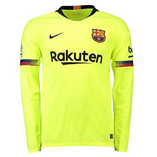 Nike 2018-2019 Barcelona Away Long Sleeve Football Soccer T-Shirt -