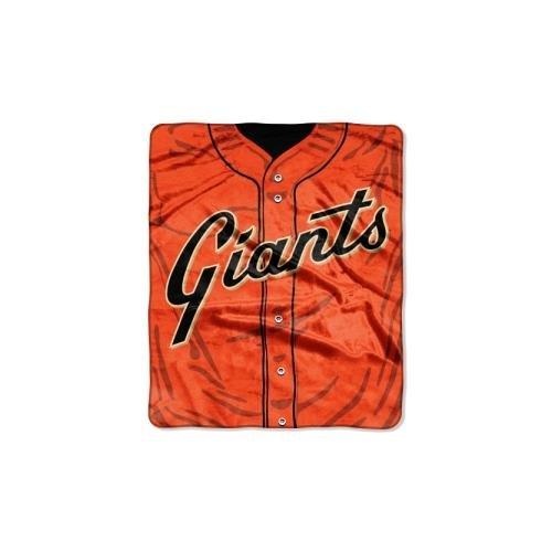 San Francisco Giants Throw - The Northwest Company MLB San Francisco Giants Jersey Plush Raschel Throw, 50