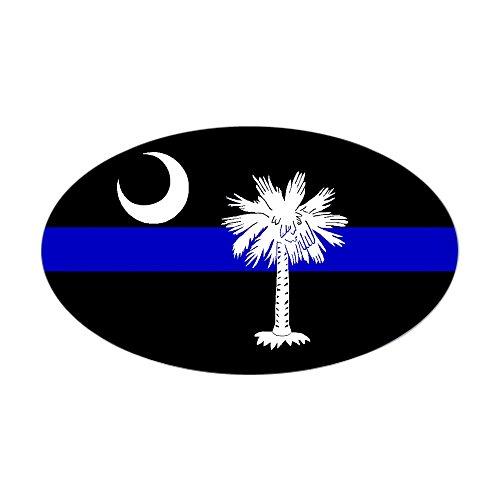 CafePress South Carolina Police Rectangle Sticker Oval Bumper Sticker, Euro Oval Car Decal