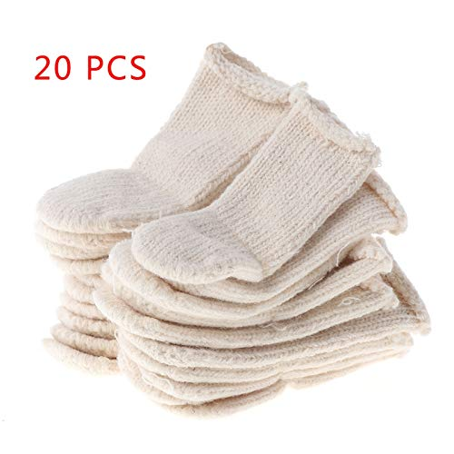 - Kar-Acces - Cotton Finger Guards Cots Avoid Protection Prints Clean Polish Craft Tool 20Pcs