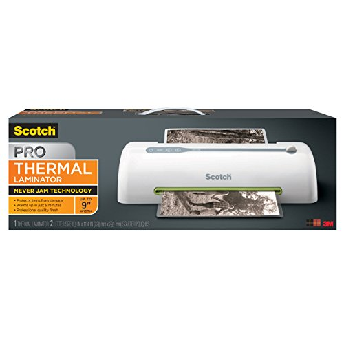 Scotch PRO Thermal Laminator, Never Jam Technology Automatically Prevents Misfed Items , 2 Roller System (2 Input Tray)