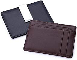 Acero Inoxidable Negro 1 PC demiawaking Slim de Acero Inoxidable Bolsillo Monedero Clip de Dinero Efectivo Soporte Negro