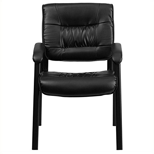Pemberly Row Reception Guest Chair in Black by Pemberly Row