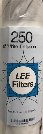 1/2 White Diffusion Filter Roll by Lee Filters #250