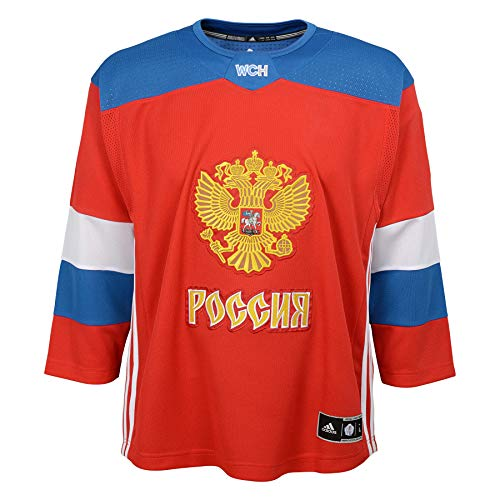 (adidas Team Russia 2016 World Cup of Hockey Youth Red Replica Jersey (Youth (L/XL)))