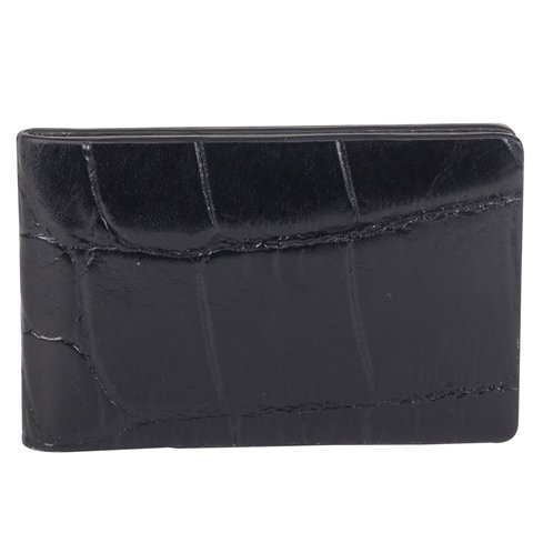 Cross Men's Leather Money clip - Coco Bicolor - Black/Black - - Bag Man Oroton