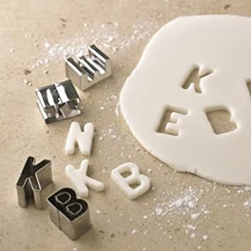 lakeland 1 alphabet letters icing biscuit cutter set in