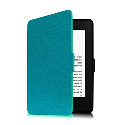 Fintie Slimshell Case for Kindle Paperwhite - PU Leather Cover with Auto Sleep/Wake for All-New Amazon Kindle Paperwhite (Fits All Generations), Blue