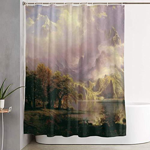 Mikonsu Lihna Shower Curtain with Hooks Oil Nature Outside Sky Art Bathroom Decor Bath Curtain-60x70 in]()