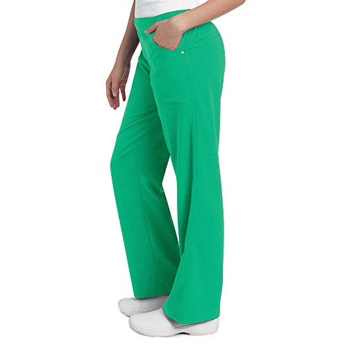 Urbane Ultimate Women's Elastic Waistband Scrub Pant X-Small Petite Kelly