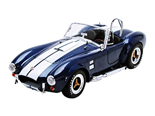Shelby Diecast Car (Shelby Cobra 427 S/C Convertible Carroll Shelby (1965, 1/18 scale diecast model car, Blue w/ White Stripes) SC121-1)