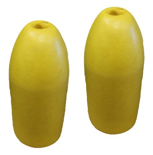 (KUFA Sports 6x14-Inch Shrimp Trap Float (2-Pack), Yellow)