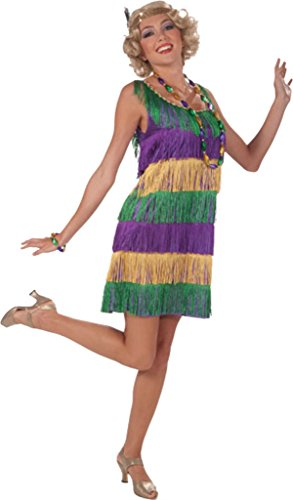 Forum Novelties Womens 1920'S Colorful Mardi Gras Frisky Flapper Fancy Costume, One Size